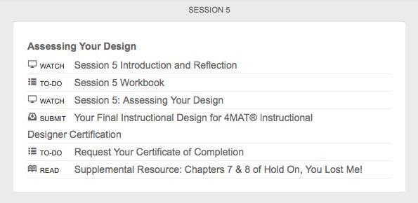 4mat Online Instructional Design Certification